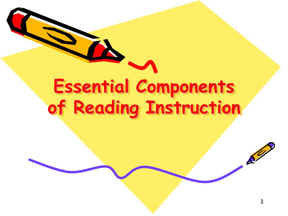 3 Essential Components of Reading Instruction
