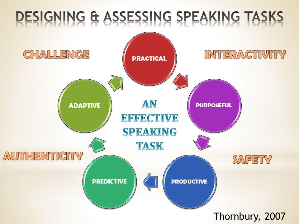 PRACTICAL PURPOSEFULPRODUCTIVE PREDICTIVE ADAPTIVE Thornbury, 2007