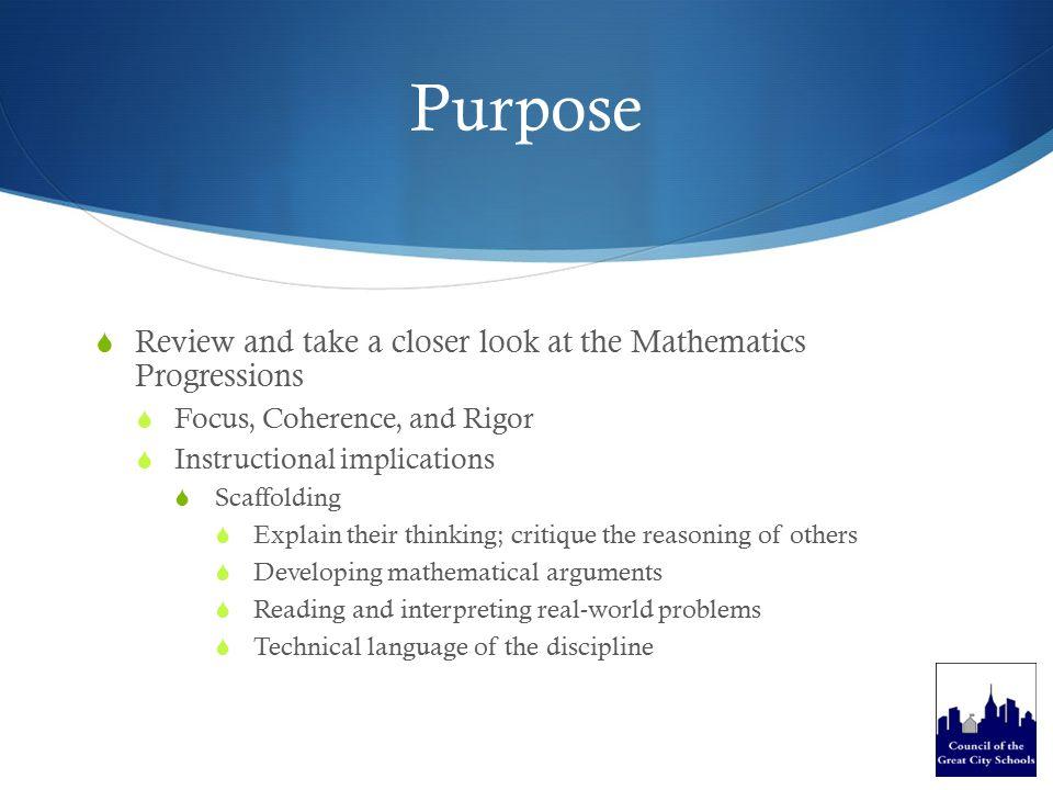  Instructional Shifts Mathematics A Look Back