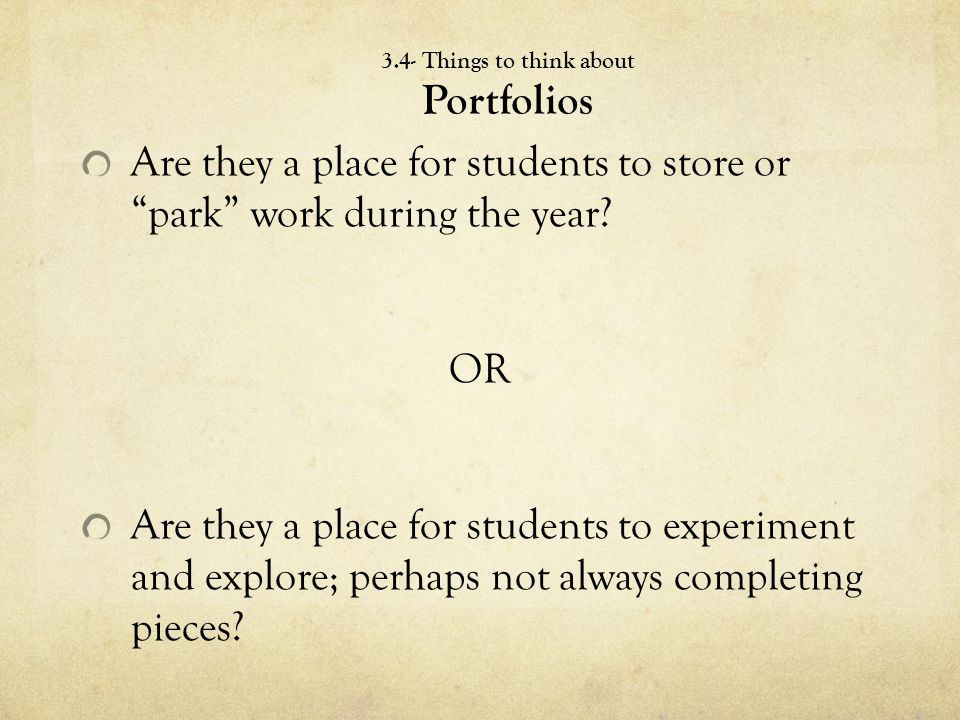 Are they a place for students to store or park work during the year.