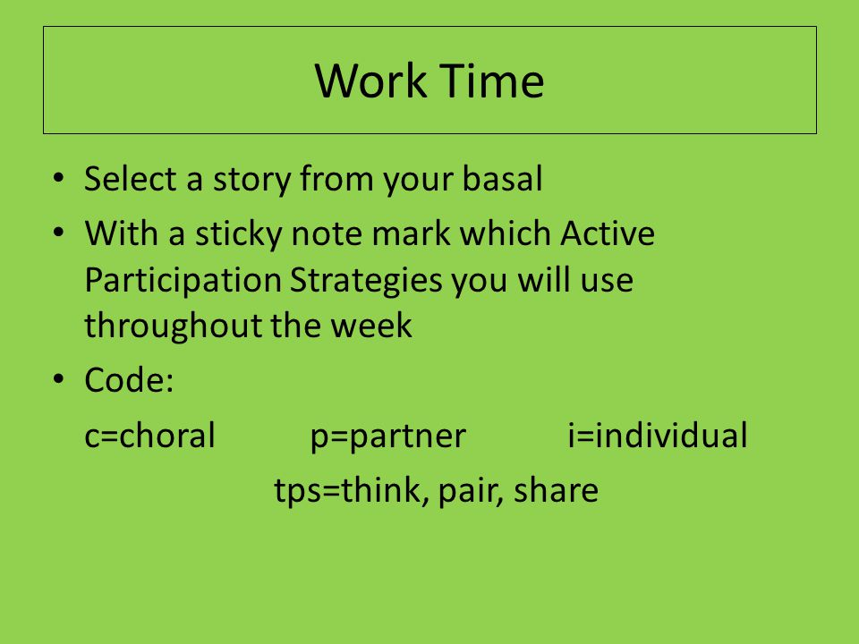 Show Time Instructional Routine for Vocabulary Did the Teacher: 1.Introduce the word.