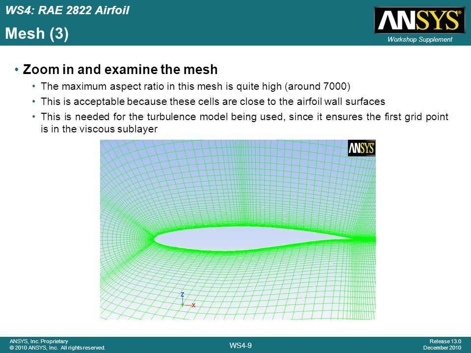 WS4-40 ANSYS, Inc.Proprietary © 2010 ANSYS, Inc. All rights reserved.