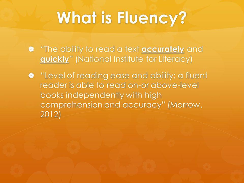 What do Fluent Readers Do.
