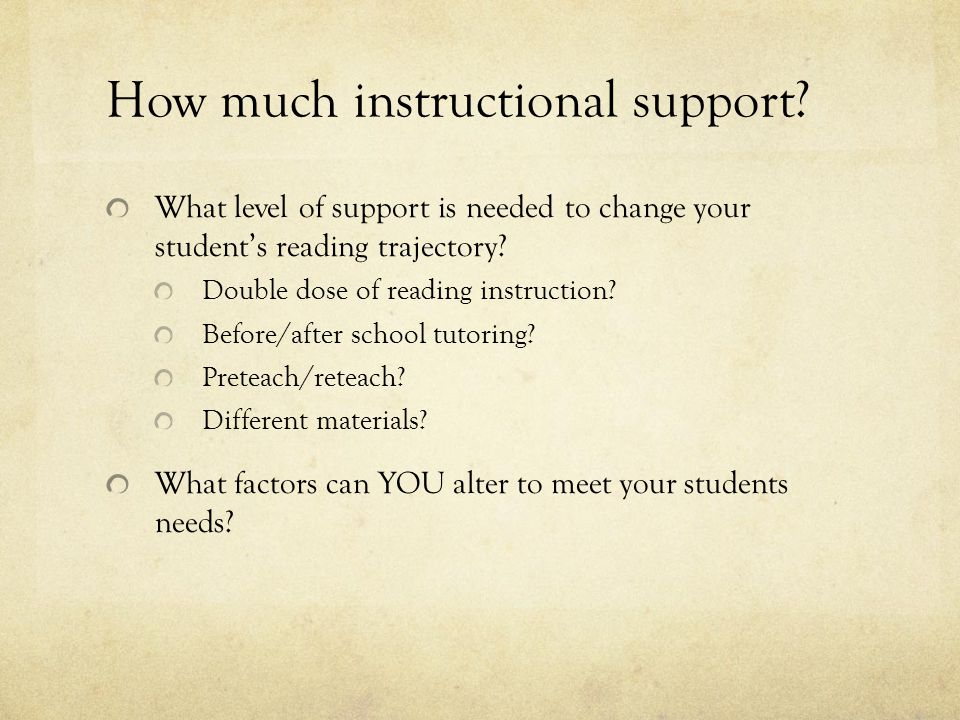 How much instructional support.