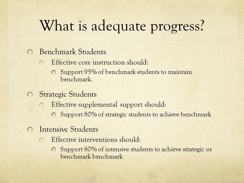 What is adequate progress.