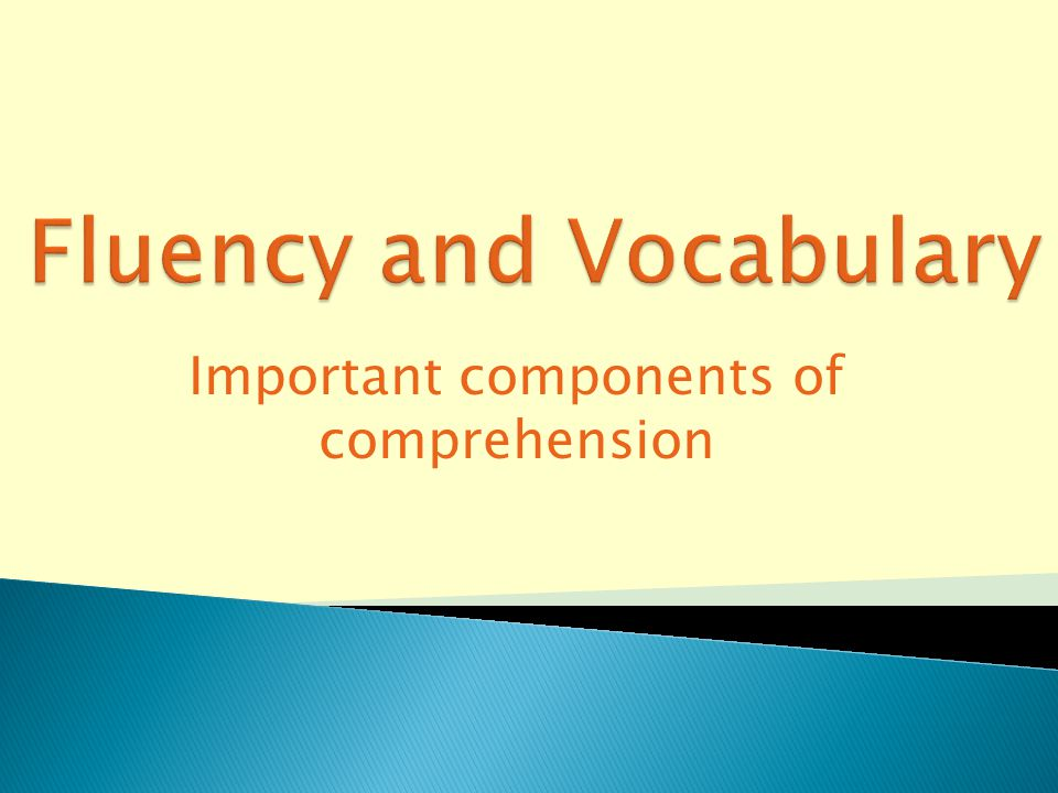 Important components of comprehension