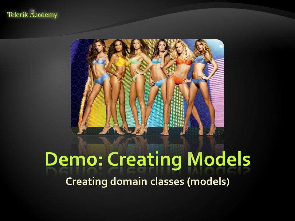 Creating domain classes (models)