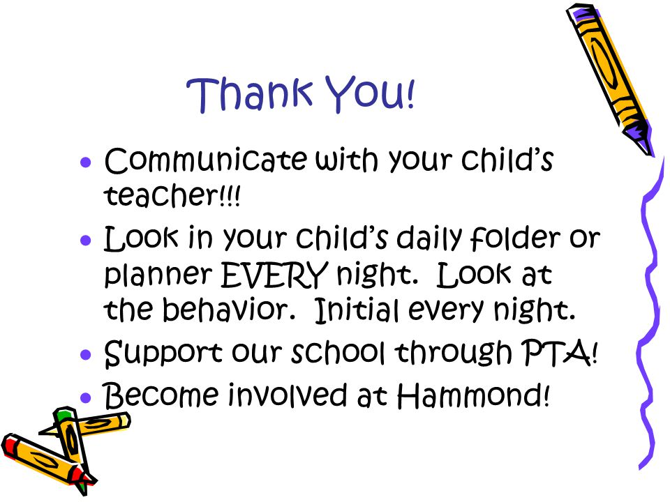 Thank You.  Communicate with your child's teacher!!.