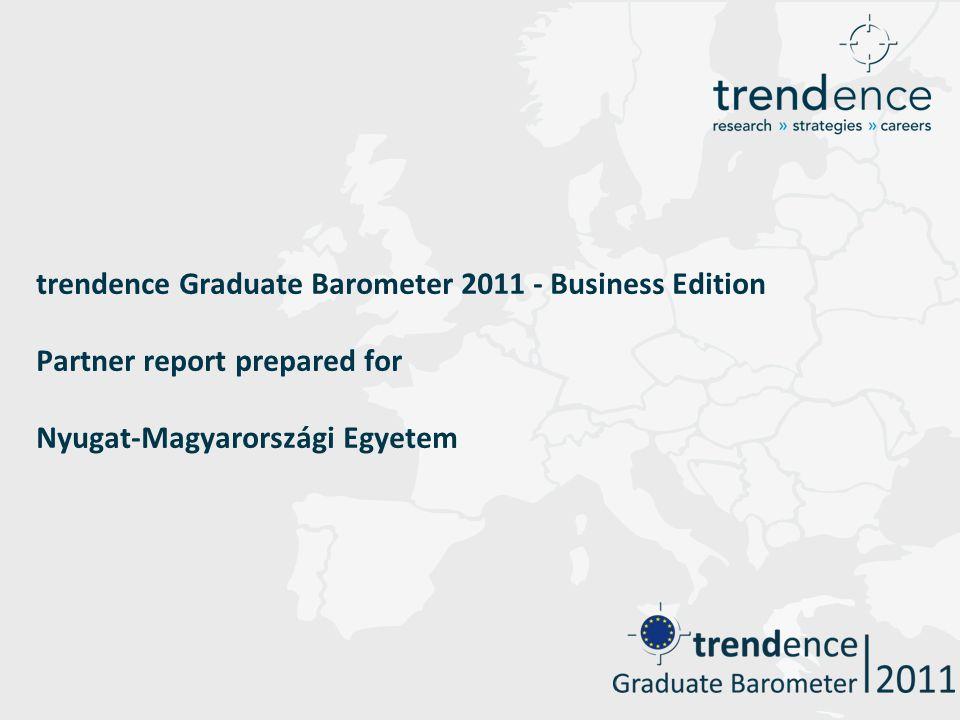 trendence Graduate Barometer 2011 - Business Edition Partner report prepared for Nyugat-Magyarországi Egyetem