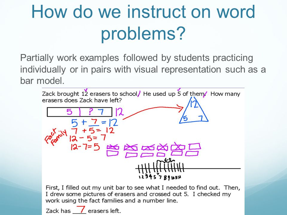 How do we instruct on word problems.