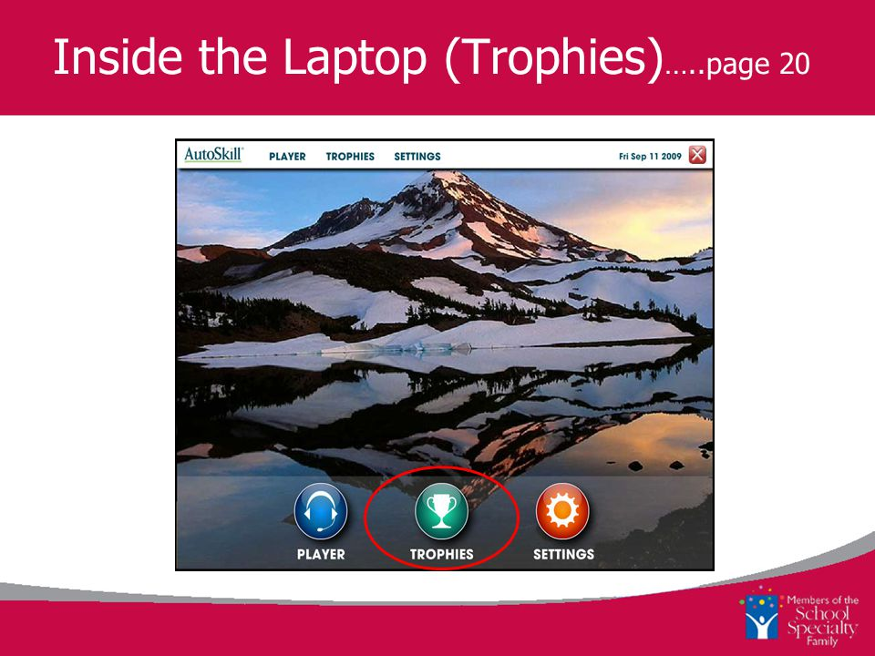 Inside the Laptop (Trophies) …..page 20