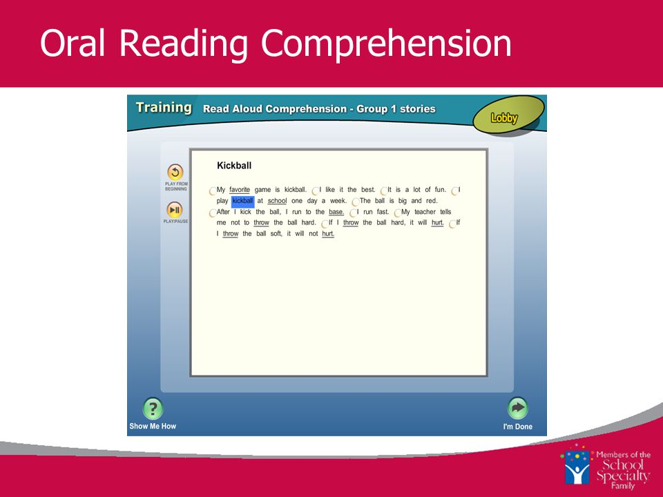 Oral Reading Comprehension