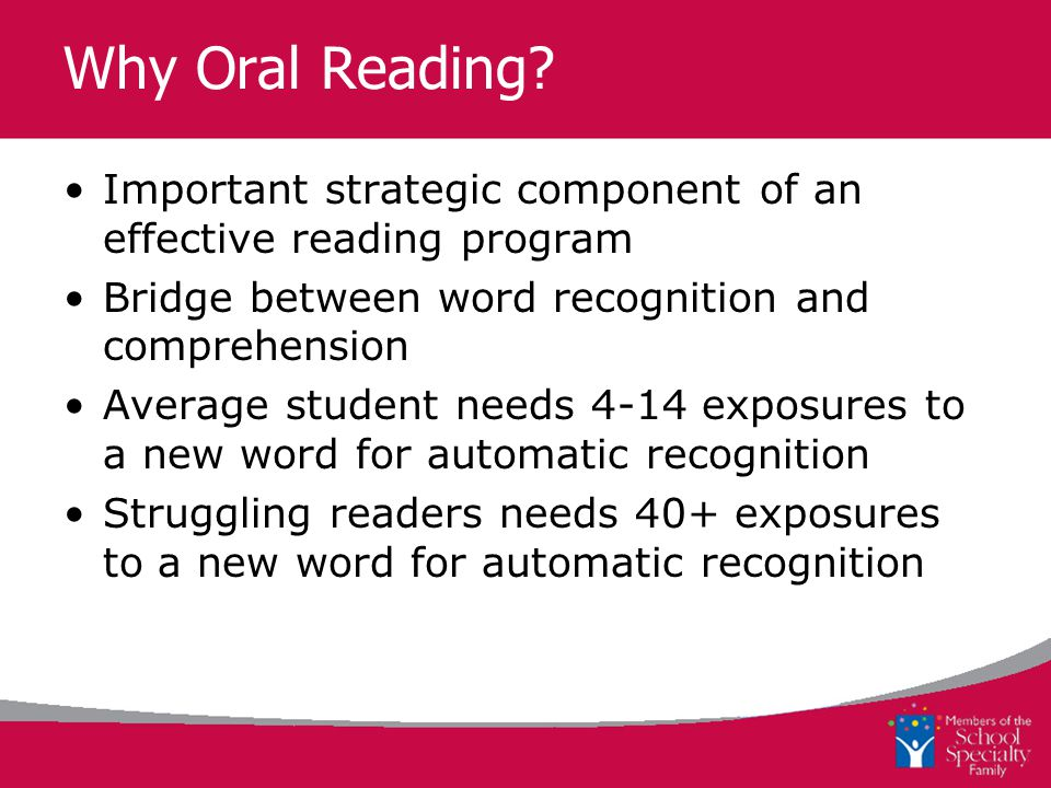 Why Oral Reading.