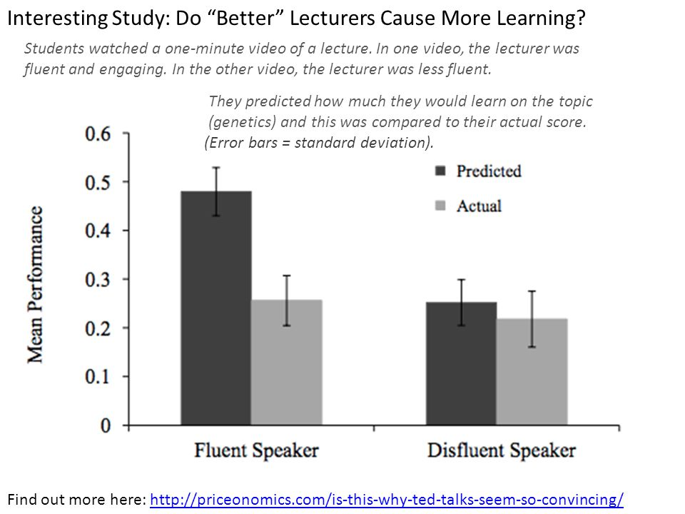 Interesting Study: Do Better Lecturers Cause More Learning.