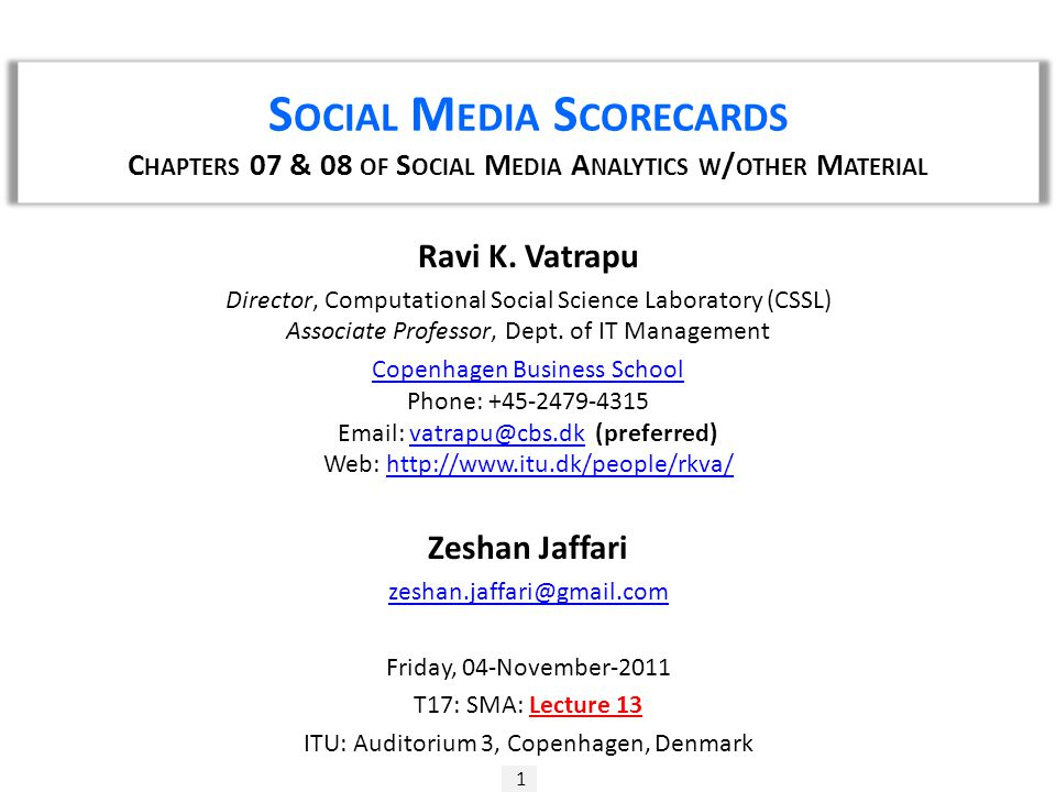 S OCIAL M EDIA S CORECARDS  Provide  Monitoring  Measurement  Include  Social Data  Web Analytics  Organic Search Queries  Also Include (Local Social Mobile)  QR Code  Mobile Check-Ins  House Data 2