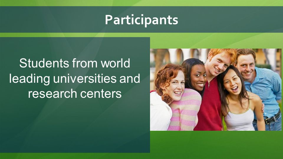 Requirements for participants: 1.International students under the age of 35 4.
