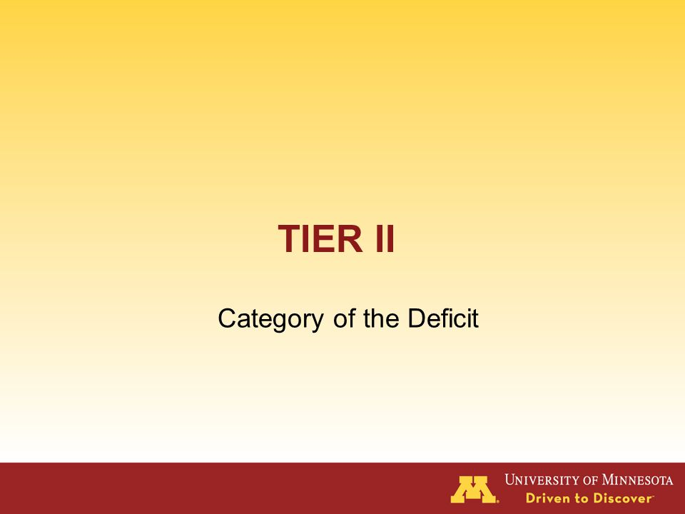 Problem Solving Tier I – Identify discrepancy between expectation and performance for class or individual (Is it a classwide problem ) Tier II – Identify discrepancy for individual.