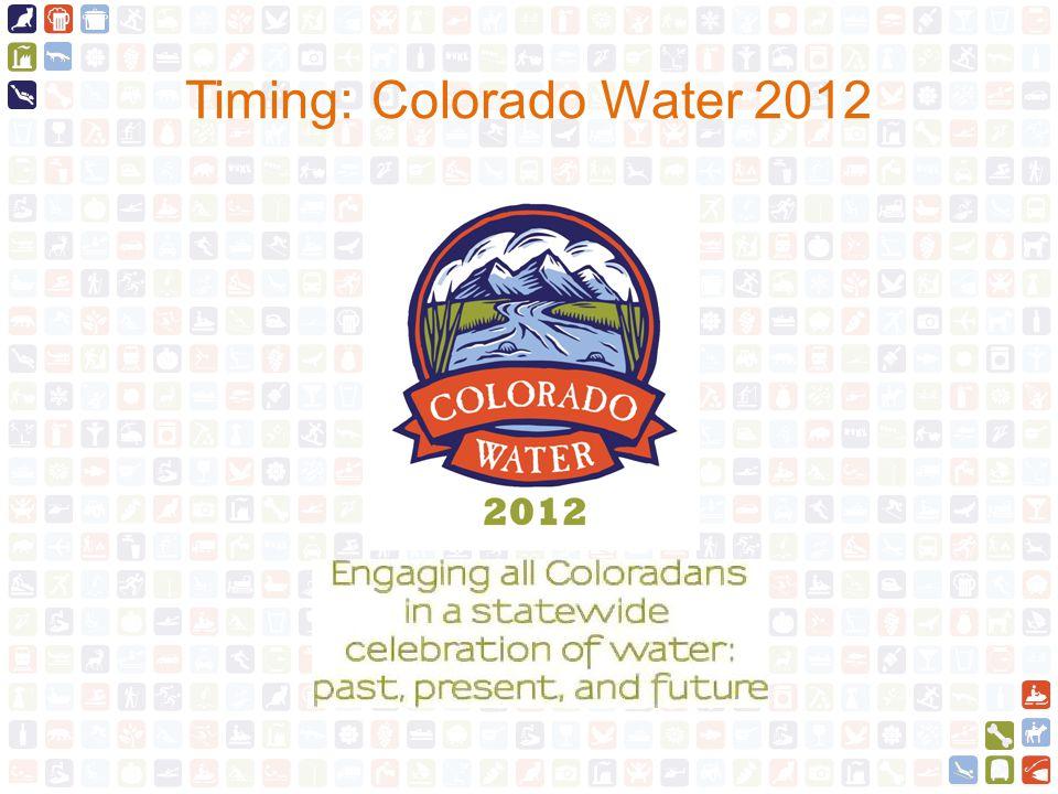 Timing: Colorado Water 2012