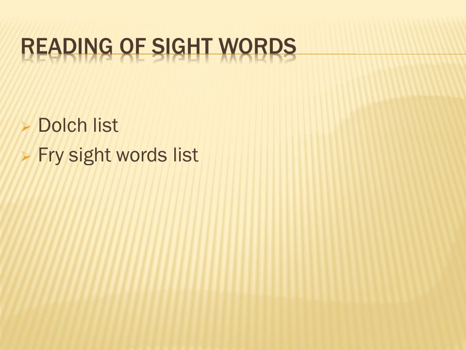  Dolch list  Fry sight words list