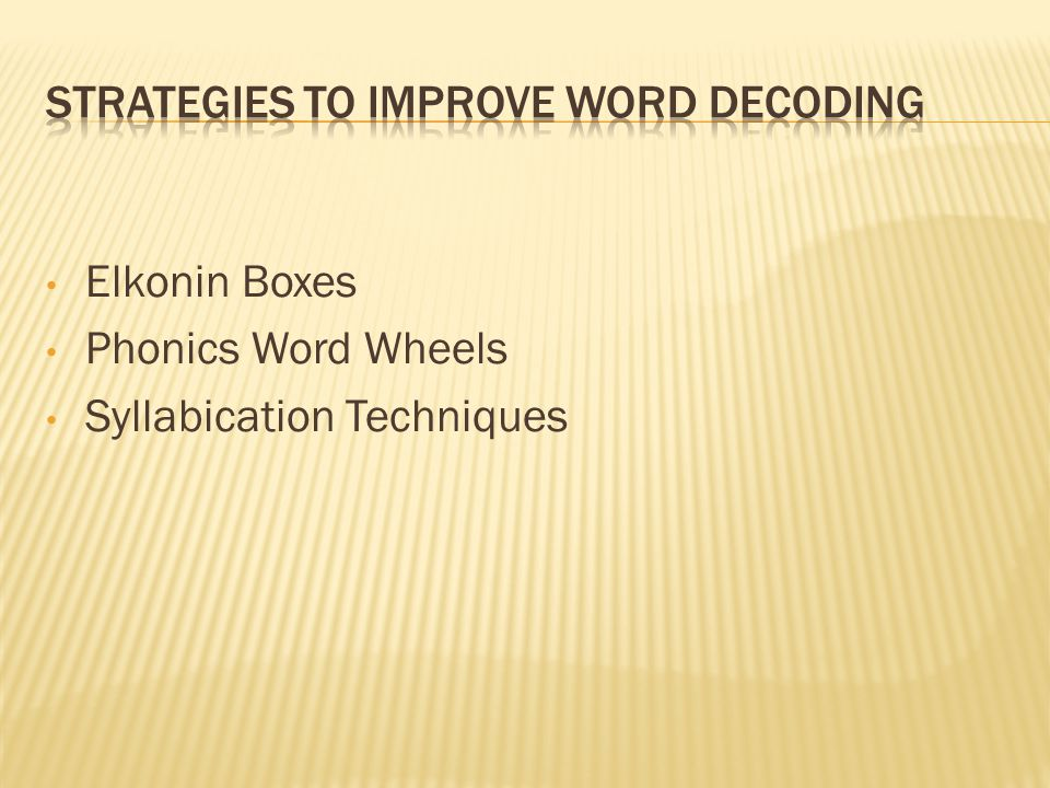 Elkonin Boxes Phonics Word Wheels Syllabication Techniques