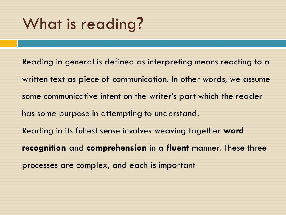Reading Purposes What could the reading purpose of each person be?