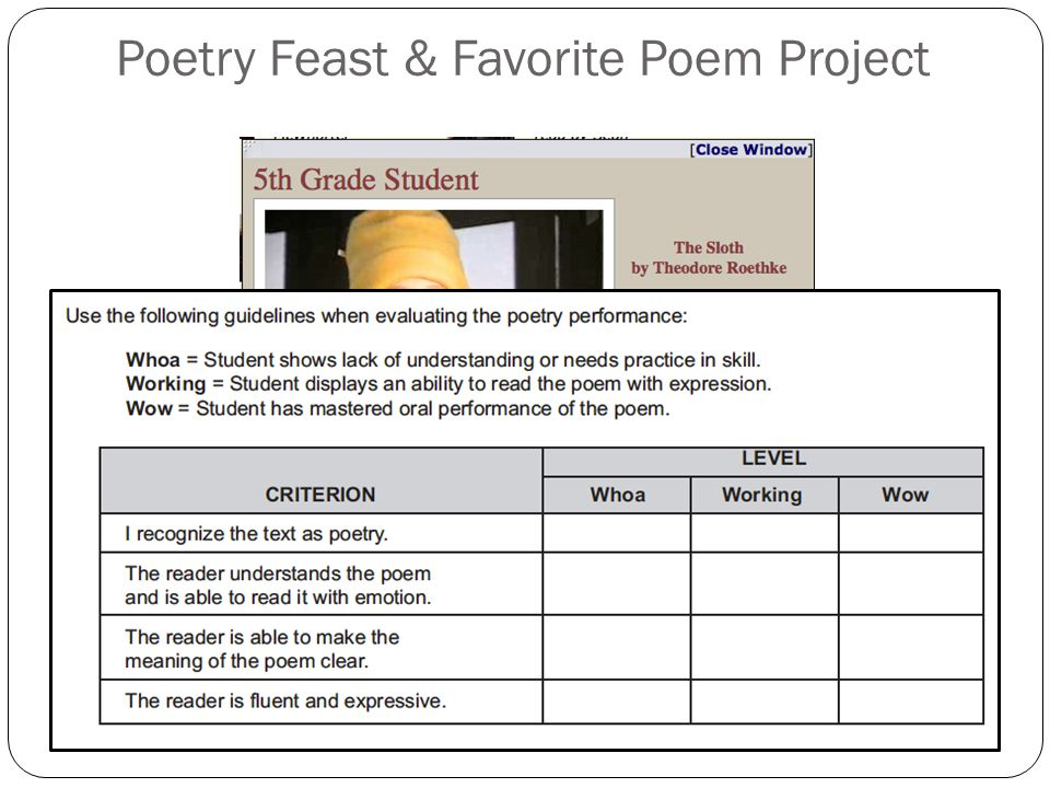 Poetry Feast & Favorite Poem Project