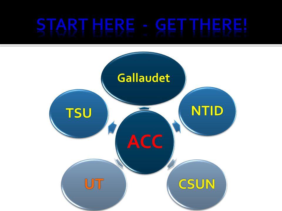 ACC Gallaudet NTID CSUN UT TSU