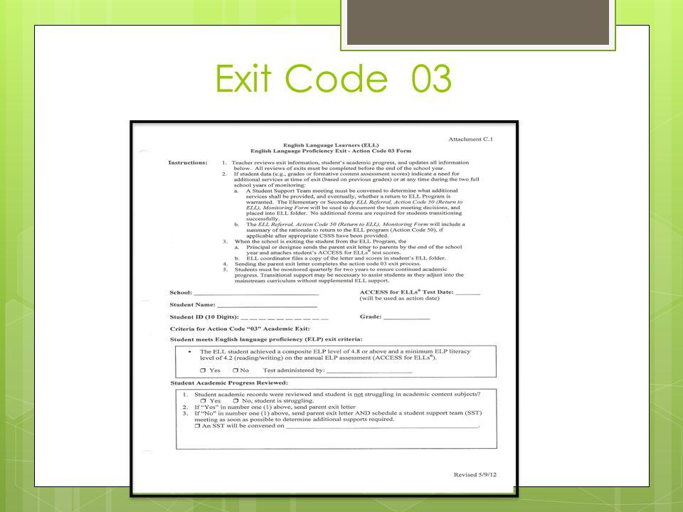 Exit Code 03