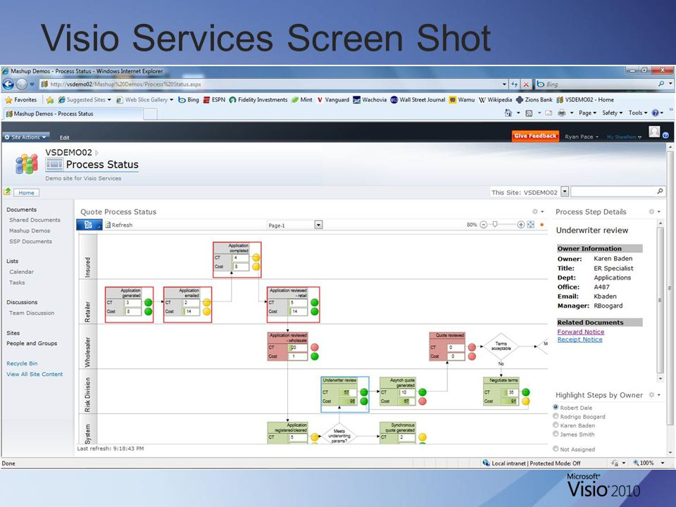 Visio Services Screen Shot