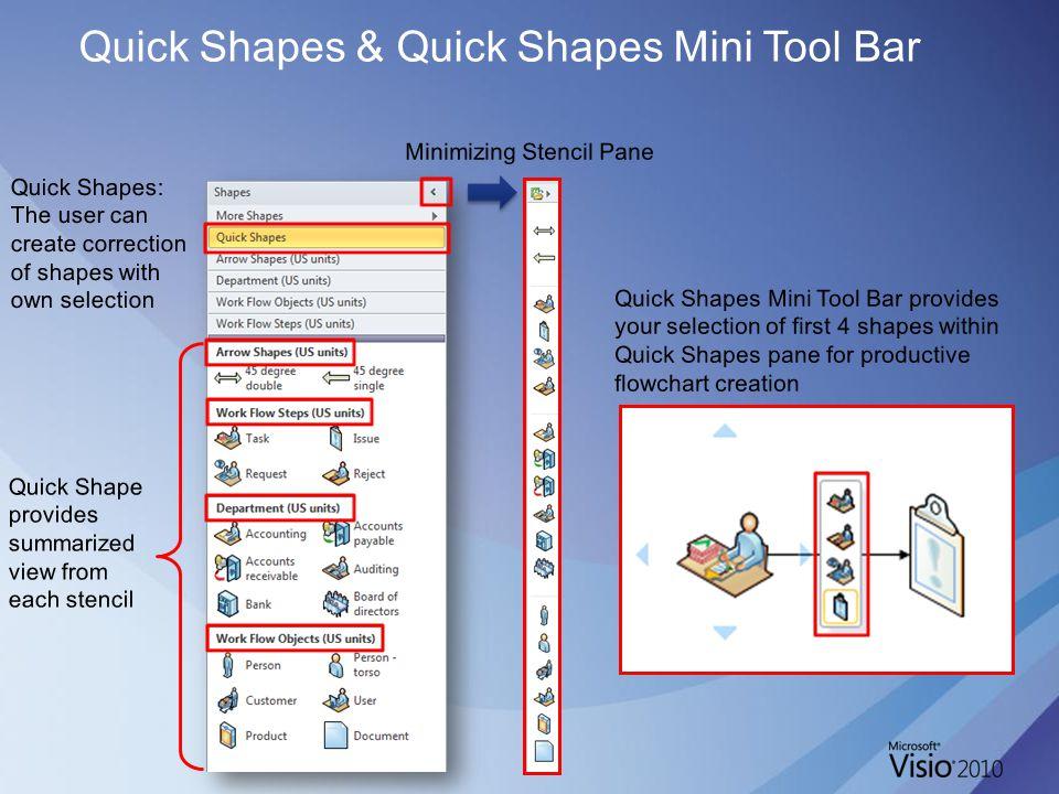 Quick Shapes & Quick Shapes Mini Tool Bar