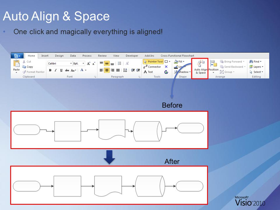 Auto Align & Space One click and magically everything is aligned!
