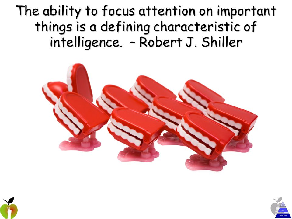 The ability to focus attention on important things is a defining characteristic of intelligence.