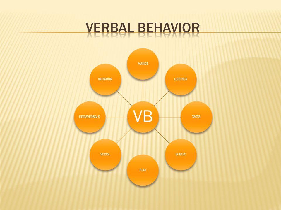 VB MANDSLISTENERTACTSECHOICPLAYSOCIALINTRAVERBALSIMITATION