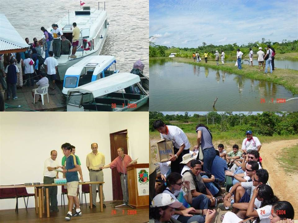 25 5 th International Aquaculture Extension Course in the Amazon Region Macas Salecian Institute and the Voz del Upano auditorium.
