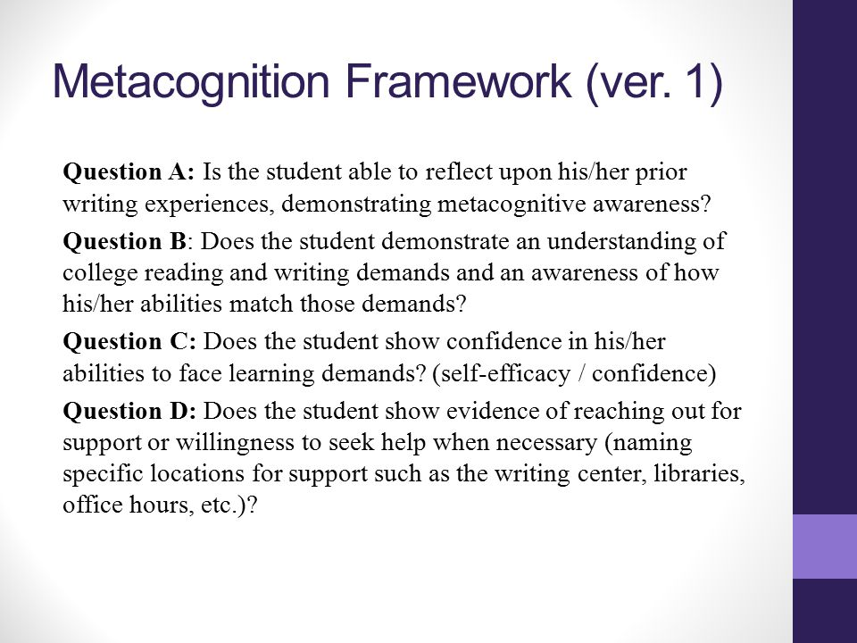 Metacognition Framework (ver.