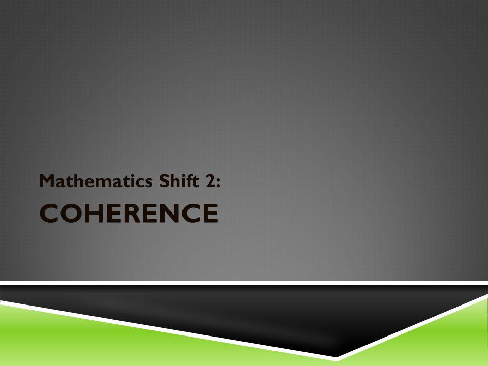COHERENCE Mathematics Shift 2: