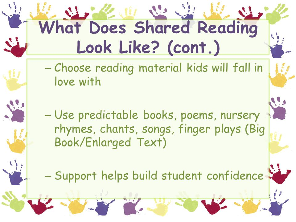 What Does Shared Reading Look Like.