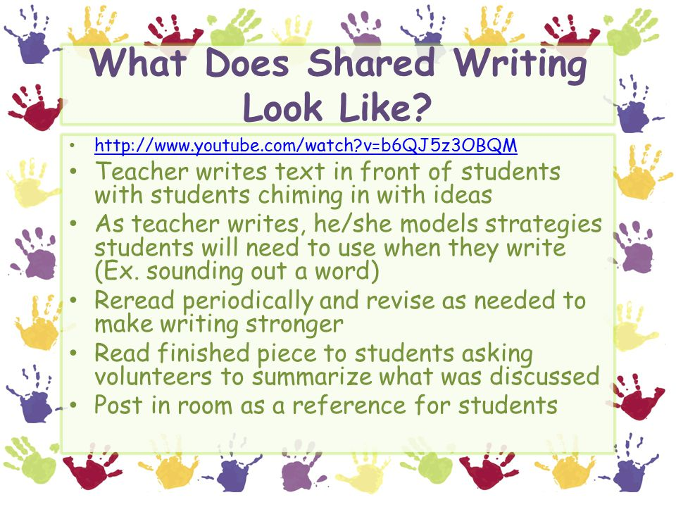 What Does Shared Writing Look Like.