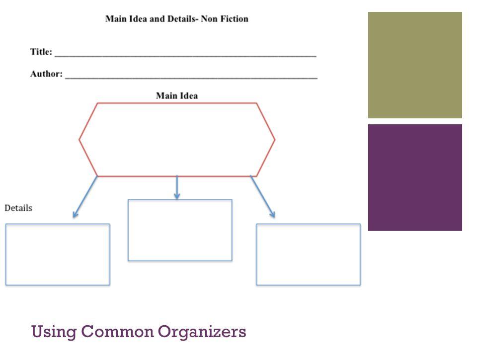 + Using Common Organizers
