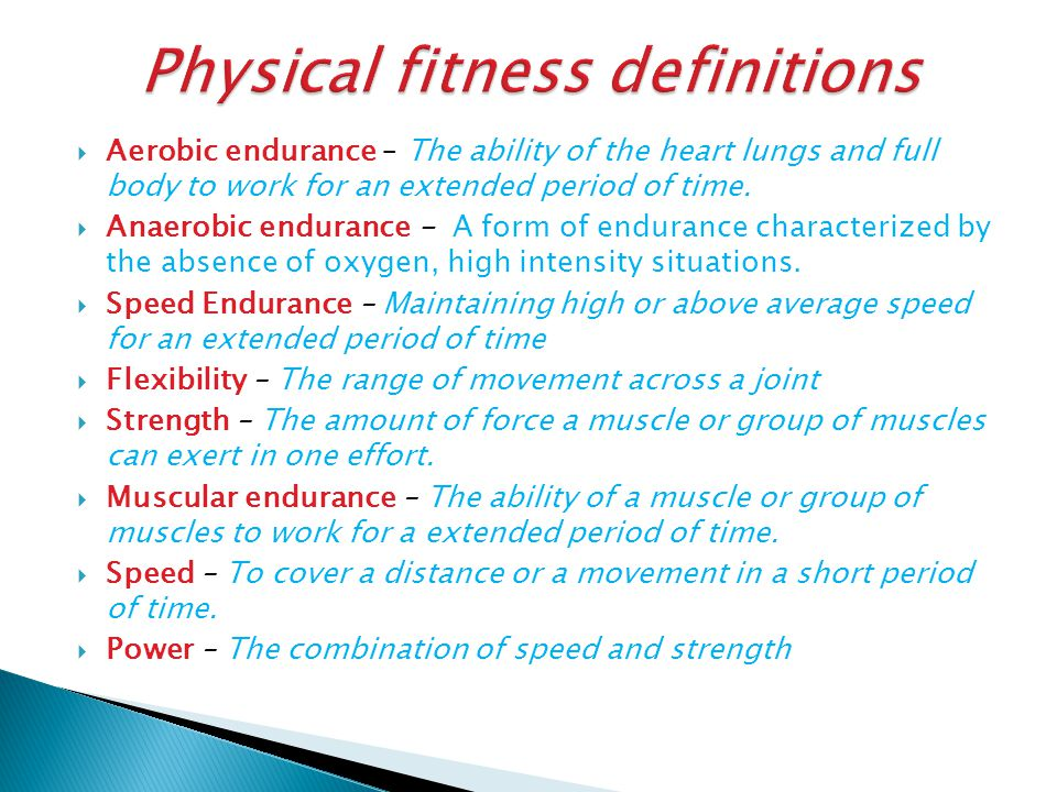  Aerobic / Anerobic Endurance – Fartlek training, Interval Training, Continuous Training https://www.youtube.com/watch?v=G0flp8uS1Eg  Muscular Endurance – Circuit Training  Speed – Sprints, Weights, Plyometric's https://www.youtube.com/watch?v=8LuZWIkOqrQ  Strength – Weight training  Power – Body weight / weight training, Explosive drills specific to sport demands.
