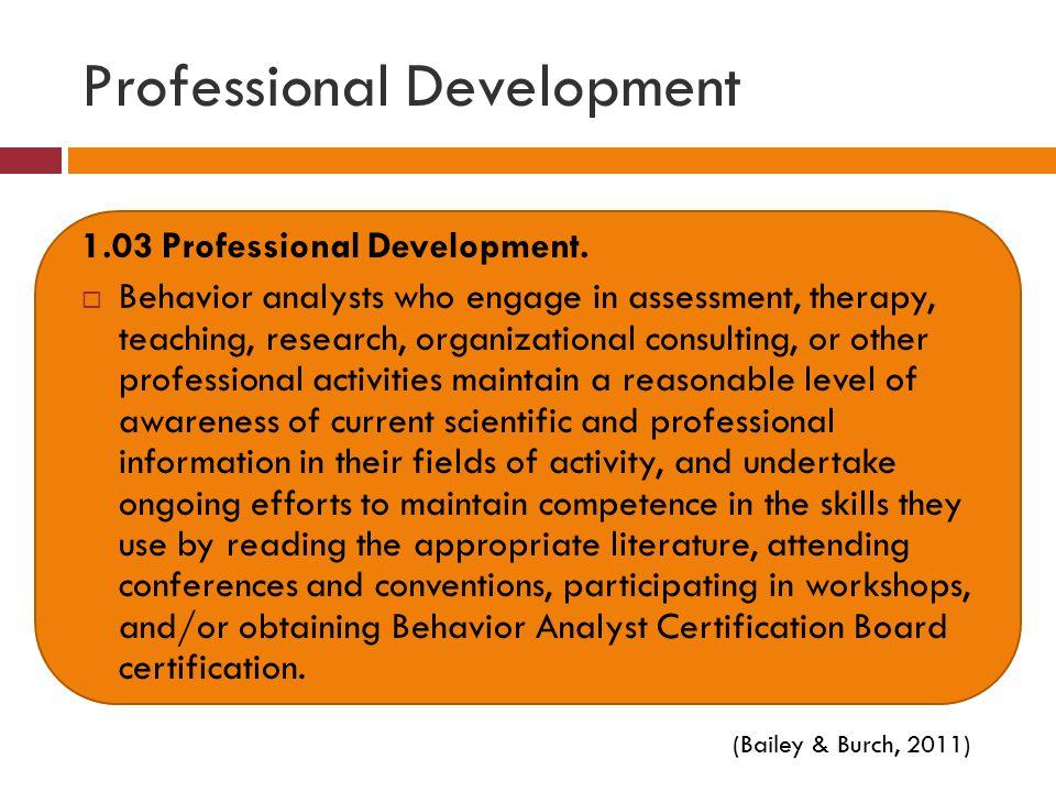 Professional Development 1.03 Professional Development.