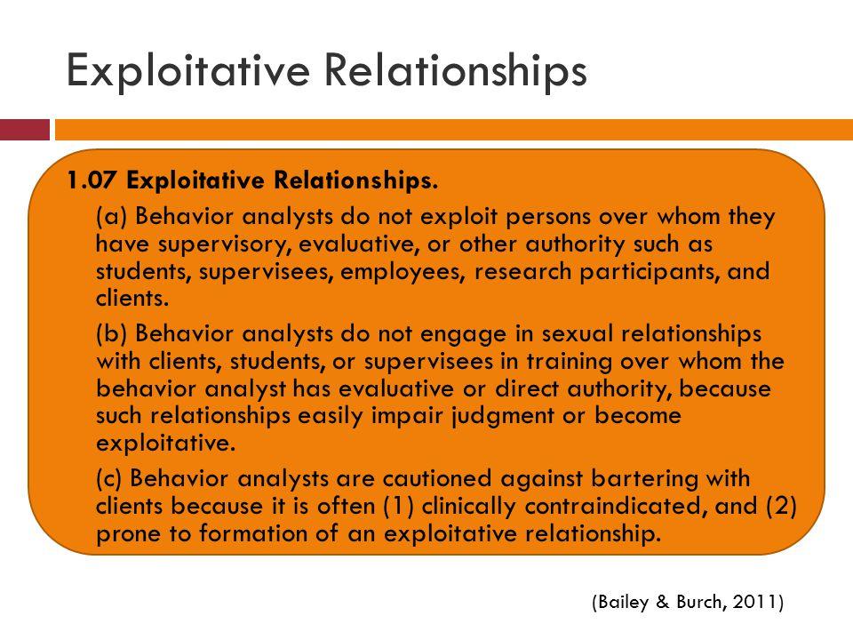 Exploitative Relationships 1.07 Exploitative Relationships.