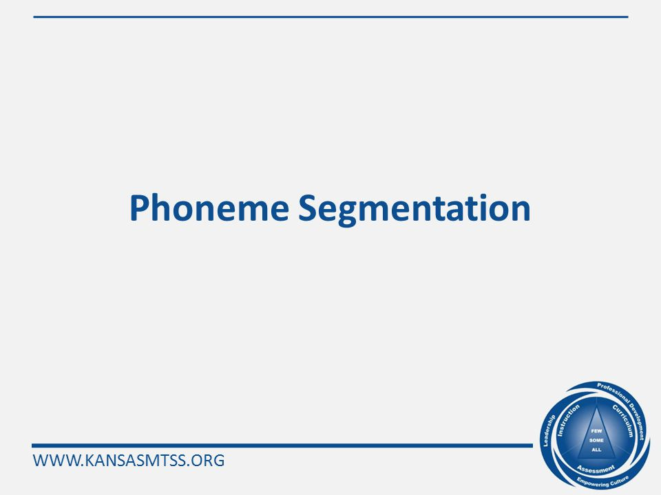 WWW.KANSASMTSS.ORG AIMSweb Grouping Indicators Kdg 1 st Grade2 nd - 6 th Grade 7 th – 8 th Grade Fall LNF PAST: Initial Phoneme, Syllable Blending, Segmentation, & Deletion, Word Concept Alphabet Knowledge Step 1: NWF Step 2: PSF R-CBMMaze Winter PSFNWFR-CBMMaze Spring PSFR-CBM Maze