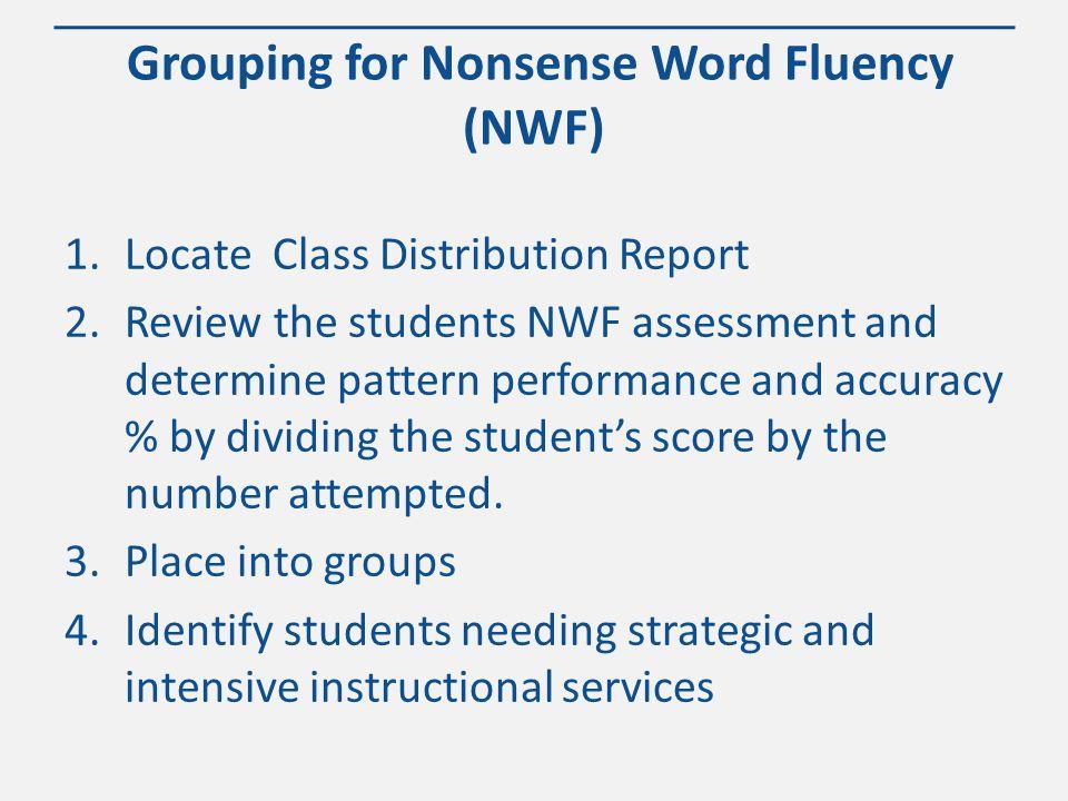 WWW.KANSASMTSS.ORG Nonsense Word Fluency