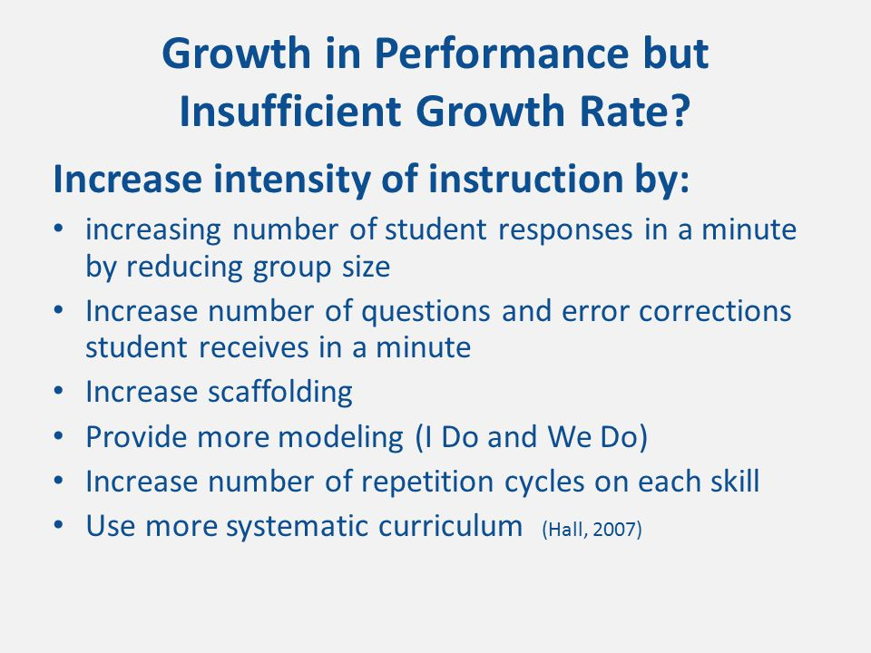 Positive Response By Slope benchmark Tier 1 instruction Tier 2 instruction Growth in Performance but Insufficient Growth Rate Shores & Chester,