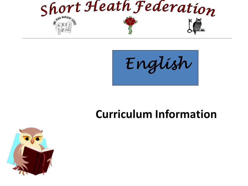 English Curriculum Information