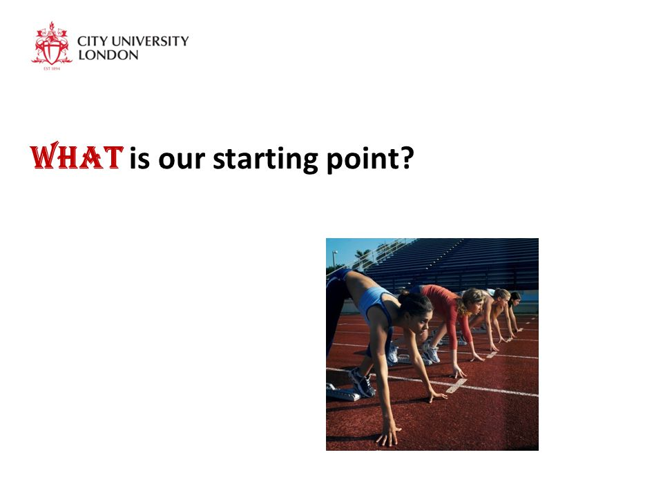 What is our starting point?