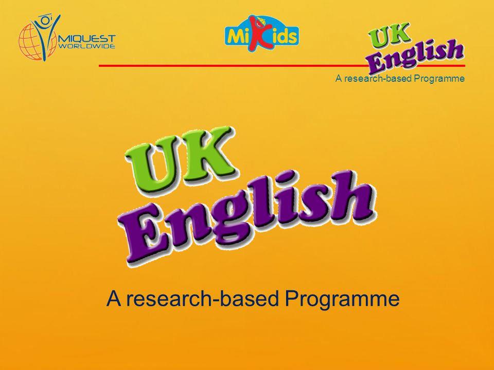 A research-based Programme