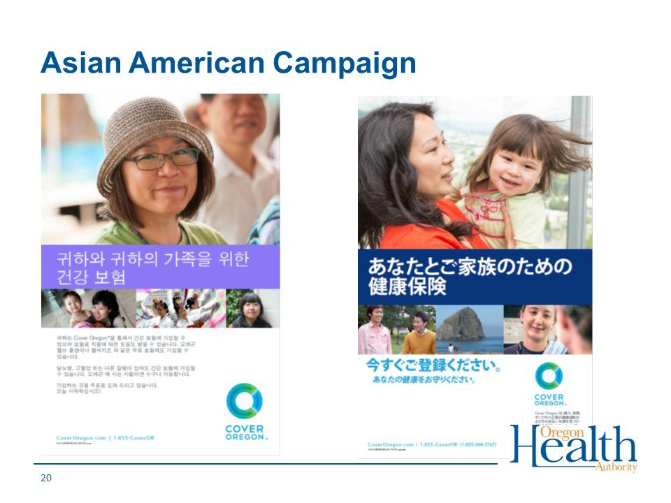 Asian American Campaign 20