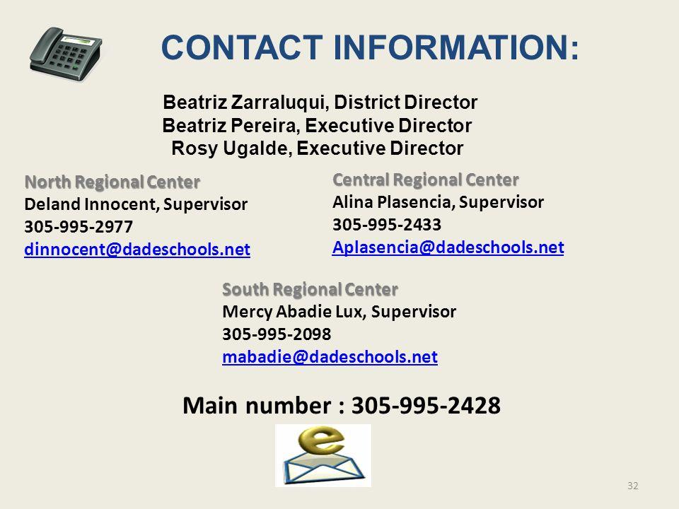 Beatriz Zarraluqui, District Director Beatriz Pereira, Executive Director Rosy Ugalde, Executive Director North Regional Center Deland Innocent, Super